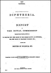 Diphtheria Commission of 1872