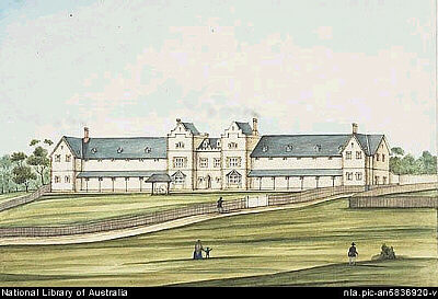 Lunatic Asylum in Adelaide 1855